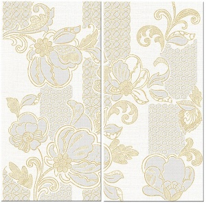 Панно Illusio Beige Pattern 630x630 мм (2 шт х315х630)